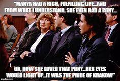At Manya's funeral...