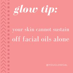 YOUR SKIN CANNOT SUSTAIN OFF FACIAL OILS ALONE | using oils without a moisturizer can cause major skin inflammation issues in the long run