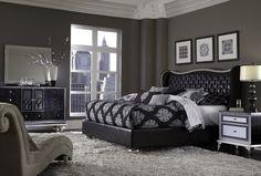 AICO Hollywood Swank - Starry Night Hollywood Swank Starry Night Bedroom Set