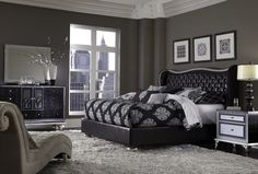 AICO Hollywood Swank - Starry Night Hollywood Swank Starry Night Bedroom Set