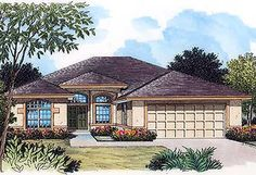 4 Bed Home With Extendable Garage - 63260HD | 1st Floor Master Suite, CAD Available, Florida, Narrow Lot, PDF, Southern | Architectural…