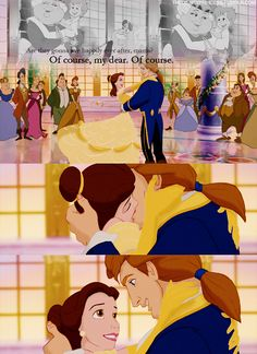 """{Disney Challenge - Day 30: Favorite Happy Ending} Belle and Adam's has always held a special place in my heart. With the chorus singing and the transition to the stained glass. It's my favorite. """"Are they gonna live happily ever after, mama?"""" """"Of course, my dear. Of course."""" <3"""