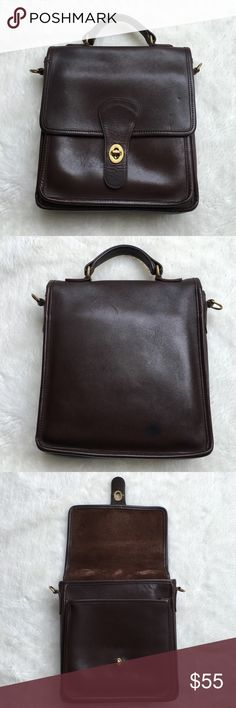"""Vintage Coach Brown Bag Vintage Coach Brown Bag. Has normal signs of vintage wear. Missing strap. 10"""" tall and 8.5"""" wide. Please look at pictures for better reference. Happy shopping!!! Coach Bags"""