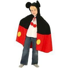 【コスプレ】 RUBIE'S(ルービーズ) DISNEY(ディズニー) コスプレ CHARACTER CAPE(キャラクター ケープ)シリーズ Mickey Cape(ミッキー 肩マント) - 拡大画像