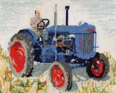 Fordon E27N tractor cross stitch kit from Lyndisfarne. Stitched on 14 count aida fabric the finished size will be approx 20.5 cm x 25.5 cm. The kit contains: 14 count aida fabric, pre-sorted embroidery thread, needle, chart and instructions. Your kit will be sent directly to you by Lyndisfarne, usually within 1-3 working days. © Design copyright Julia Froggett