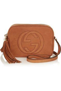 Gucci|Soho small nubuck shoulder bag|NET-A-PORTER.COM