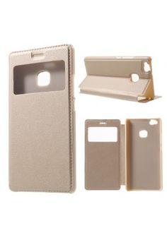 Husa Huawei P9 Lite - Flip Cover Gold