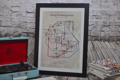 Going Cumberground - Cumbria's famous inhabitants Original graphic poster art designed in The Northern Line studio in Ulverston, Cumbria. We ship worldwide. #thelakedistrict #posters #graphicart