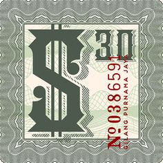 National Currency Font by Decade Typefoundry, via Behance