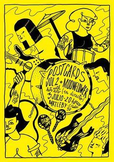 Exposició col·lectiva Postcards Vol. 2 amb les il·lustracions corresponents al recopilatori de senyoretes amb bandes Hits With Tits Volum 2. Inauguració divendres 3 de juliol a les 20h. Librería Bartleby (C/ Cádiz, 50 València)