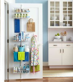 When it comes to maxing out storage, every square inch counts. But you don't have to build in a fancy closet or buy lots of high-end accessories to organize and store more in your home. Here's how to use the ordinary backs of a door.