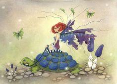 Fantasy Art Original Watercolor Painting  9x12  by FaeryDustArt, $160.00