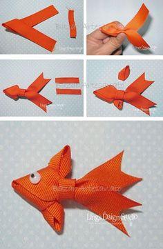 pez hecho con cinta!