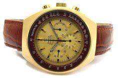 Omega Speedmaster Professional Mark II Chronograph Winding Leather Men's Watch
