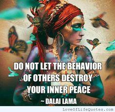Dalai Lama quote on Inner Peace - http://www.loveoflifequotes.com/religious/dalai-lama-quote-on-inner-peace/