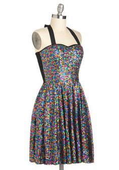I would be all over this dress if it weren't for the black stretchy back #ModCloth