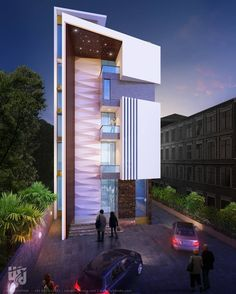 MODERN COMMERCIAL #EXTERIOR  #3DRENDER NIGHT VIEW BY www.hs3dindia.com @nirlepkaur_id