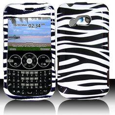 LG 900G for Stright Talk  Net 10  Tracfone Accessory - White Black Zebra Design Hard Case Proctor Cover