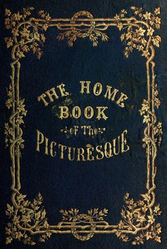 Decorative cover of 'The Home Book of the Picturesque.' Published 1852 by G. P. Putnam. University Library, University of North Carolina at Chapel Hill
