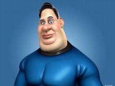 Super fat hero by Giuseppe Calcagno