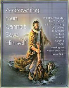 A drowning man cannot save himself.