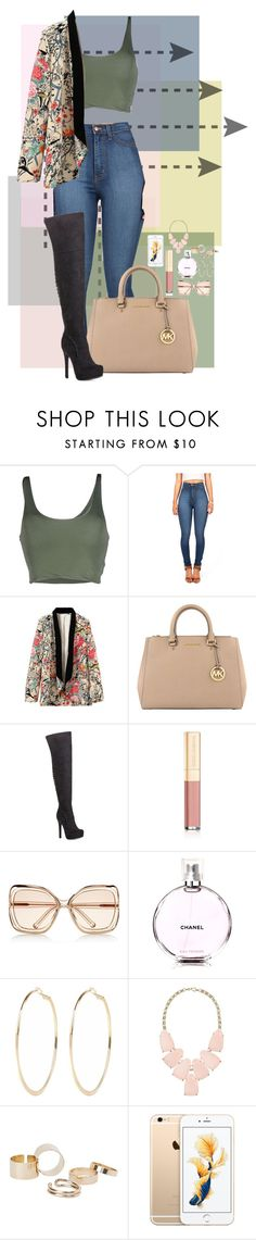 """""""10/8/2015"""" by goldenhippy on Polyvore featuring Roque, MICHAEL Michael Kors, Dolce&Gabbana, Chloé, Chanel, River Island, Kendra Scott and MANGO"""