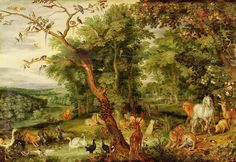 """""""O Jardim do Éden"""" - Brueghel Pintor flamengo (1568-1625)"""