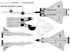 4D model template of Convair F-102 Delta Dagger. #4dpa, #ConvairF102DeltaDagger. Paper Airplane Models, Model Airplanes, Paper Models, Paper Planes, 3d Paper, Paper Toys, Paper Crafts, Paper Aircraft, Airplane Design