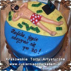093. Tort z laptopem i pieniędzmi na 30ste urodziny. Cake for 30th bday with laptop and money.