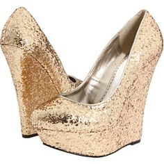 bebe, Omega in Gold Glitter...would like them more if they were in silver