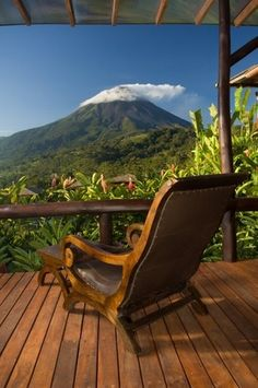 Come december i'll be sitting in this chair enjoying the view at Arenal Nayara Hotel & Gardens in Costa Rica !!