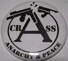 Crass 2-inch Mega Button $1.65 #punk #music #buttons #accessories www.drstrange.com