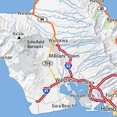 Oahu Map Showing all Oahu's Beaches, Attractions and Activities. Vacation Places, Best Vacations, Vacation Spots, Ewa Beach, Beach Bum, Oahu Hawaii, Hawaii Travel, Oahu Map, Oahu Beaches