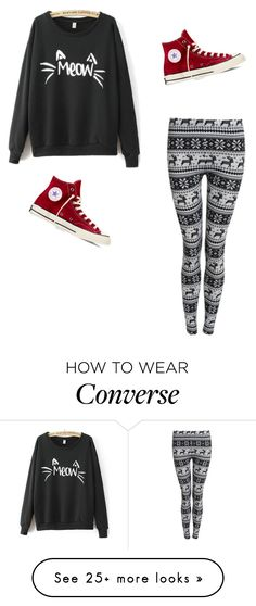 """Outfit #1"" by zeldawashere on Polyvore featuring Converse"