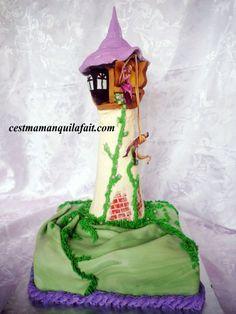 GATEAU 3D TOUR DE RAIPONCE & FLYNN TUTORIEL PHOTO PATE A SUCRE & CRAM Princess Party, Cake Art, Amazing Cakes, Girl Birthday, Cake Decorating, Wedding Cakes, Sweets, Tour, Cooking