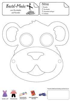 Einmal sich selbst zum Affen machen... Mit dieser witziger Affenmaske ist Spaß garantiert!