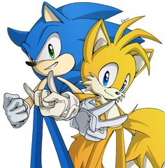 Sonic And Tails by Rosurin on deviantART