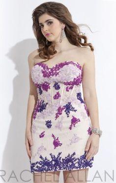 Embellished Sweetheart Dress by Rachel Allan Plus 6782