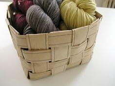 Canasta para lanas con bolsas de papel 2