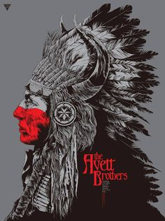In case you've missed them: some recent Avett Brothers concert posters - Album on Imgur