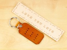 Love You Lots Leather Bookmark Gift Set, Couples Gift, Handmade Leather Keychain, Boyfriend Gift Romantic Gift, Leather Anniversary Gift Leather Keyring, Leather Gifts, Leather Craft, Leather Bookmarks, Leather Anniversary Gift, Anniversary Gifts, Book Lovers Gifts, Key Fobs, Love Gifts