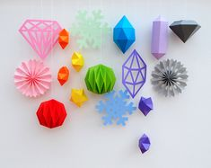 Paper stars templates - so cool for fresh new party decorations…
