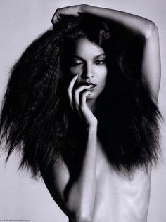 Natural hair #black model Joan Smalls