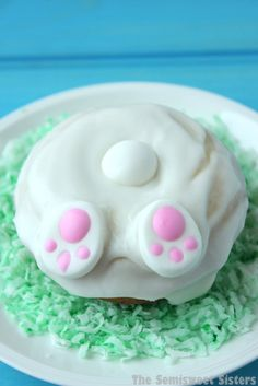 Easter Bunny Butt Donuts. Easy to make!