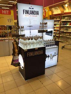Finlandia vodka retail point of purchase pos display