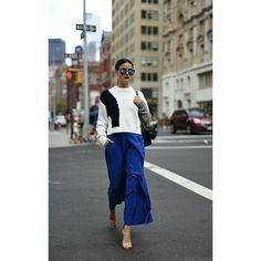 Lena's street style at #NYFW wearing the Jimmy Choo MINNY sandals {Regram: @blogger_bazaar}