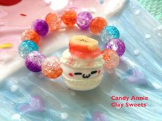 sweet macaron elastic bracelet- clay sweets on Etsy, ¥869.57