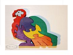 Puzzle en bois, dinde, dindon, village, ferme, jouet enfant : Jeux, jouets par az-design