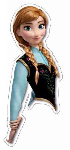 Print out onto cardstock for easy DIY Cupcake Toppers Disney Frozen Princess Anna Frozen Fever Party, Frozen Birthday Party, Frozen Theme Party, Birthday Party Themes, Anna Frozen, Anna E Elsa, Frozen Cupcake Toppers, Frozen Cupcakes, Frozen Cake
