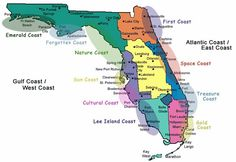 Atlantic Coast Florida Map.Map Of Florida Showing Treasure Coast Google Search Stuart